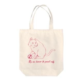 名言シリーズ バック(猫ピンク) Tote bags