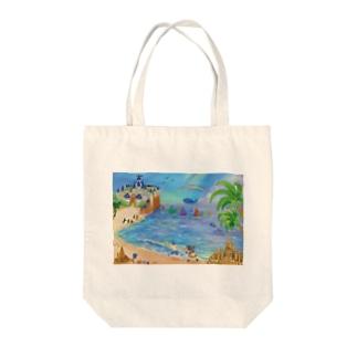 海のイラスト Tote bags