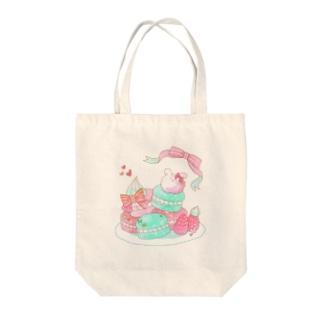 うさぎマカロン Tote bags