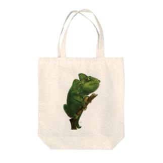 スマホdeイラストレーター・古川 セイのカメレオンのイラスト Tote bags