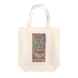 次女猫ニコ Tote bags