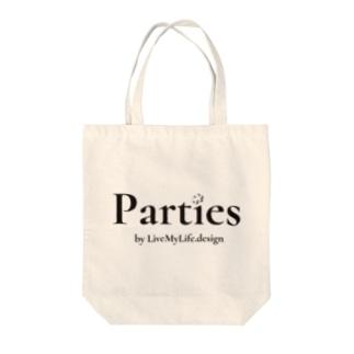 Parties公式(書体ver.) Tote bags