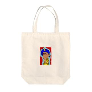 青鬼さん1 Tote bags