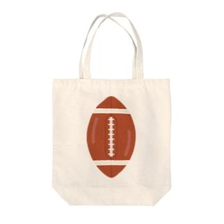 ラグビーボール Tote bags