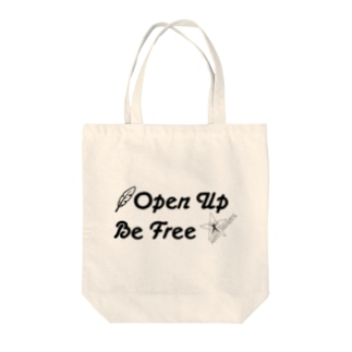 OPEN UP,BE FREE Tote bags