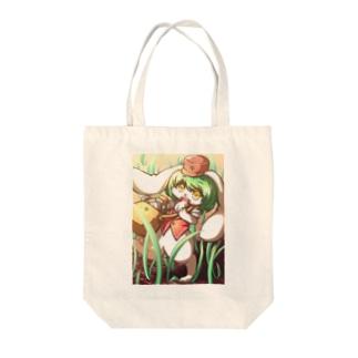 配達うさぎ Tote bags