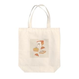 パンとブリショ Tote bags