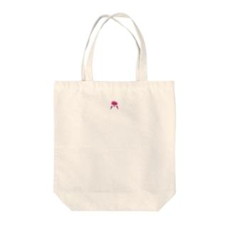 ピンクおさげの女の子 Tote bags