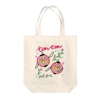 tontonスカジャンデザイン風 Tote bags