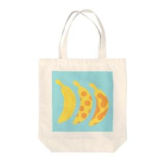 時とバナナ Tote bags