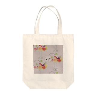 キャットフルーツパフェ Tote bags