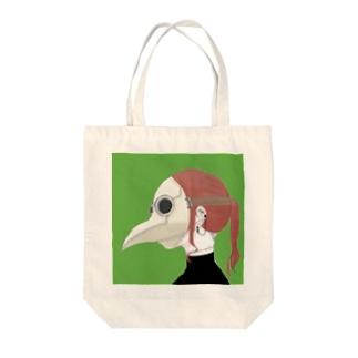 執行ちゃん Tote bags
