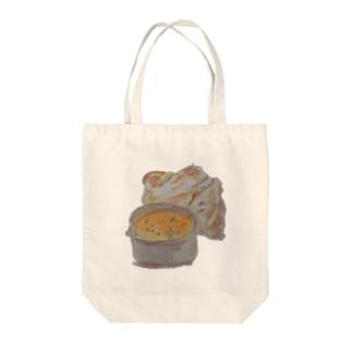 チキンカレー Tote bags