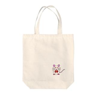 リトルプレスリーのアルビノのハツカネズミ Tote bags