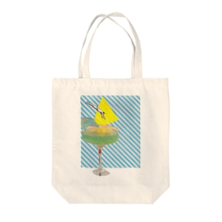 Jump into bliss Tote bags