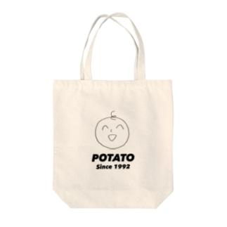 くるくるぽてとちゃん Since1992 Tote bags