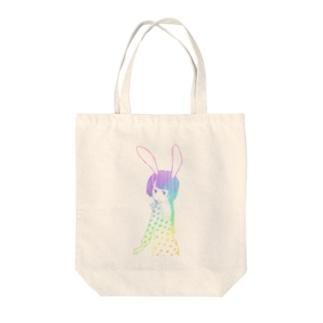 うさぎ娘 Tote bags