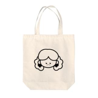 SOBAKASU ガール(ハートのイヤリング) Tote bags