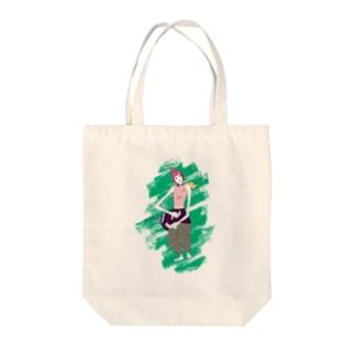 葉っぱ付きの女の子 Tote bags