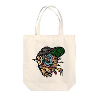 画家ゴトウヒデオのロゴマーク Tote bags