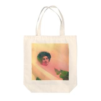 アフロな僕 Tote bags