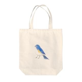 青い鳥 Tote bags