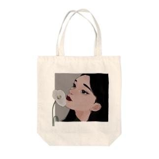 ヒナゲシ(透過) Tote bags