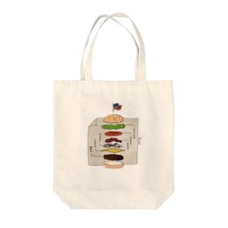 チーズバーガー Tote bags