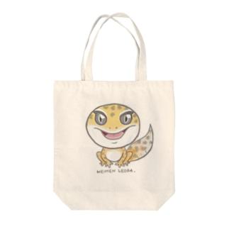 平面レオパ(ハイタン系) Tote bags