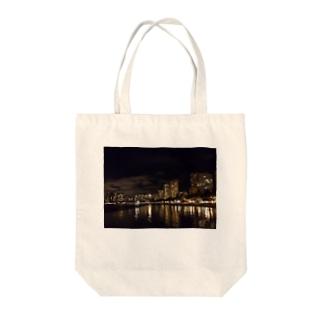夜のWAIKIKI Tote bags