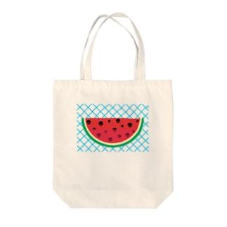 てりたまの夏!!(スイカver) Tote bags