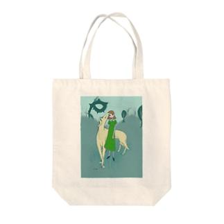 ボルゾイと女の子 Tote bags