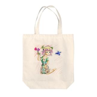 お花ガール Tote bags