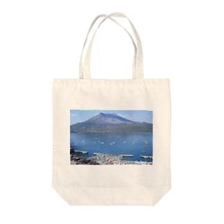 鹿児島 桜島風景 Tote bags