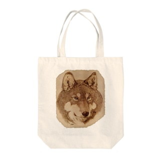 Wolf Face Tote bags