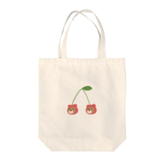 さくらんぼくま Tote bags