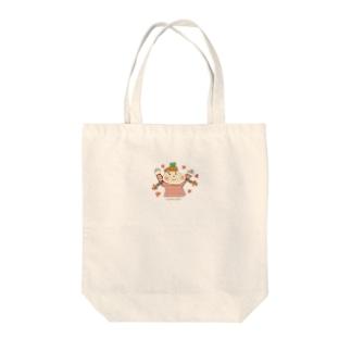 ココネットあおもり_おさげさん Tote bags