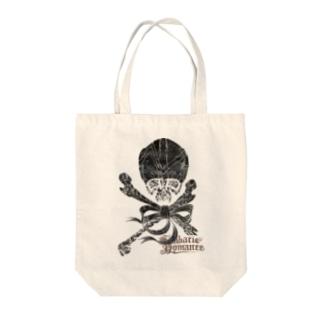 Skull(Black) Tote bags