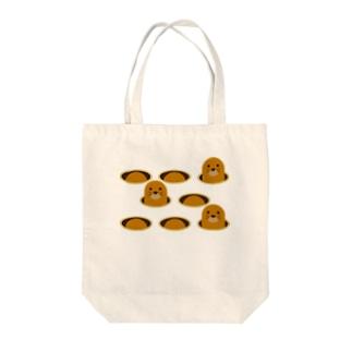 モグラたたき Tote bags