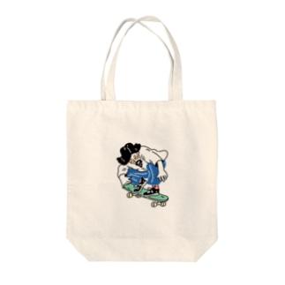スケボーにいさん Tote bags