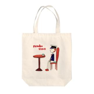 リトルプレスリーのランデヴー Tote bags