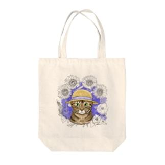 麦わら猫たまき Tote bags