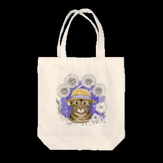梅みんつの麦わら猫たまき Tote bags