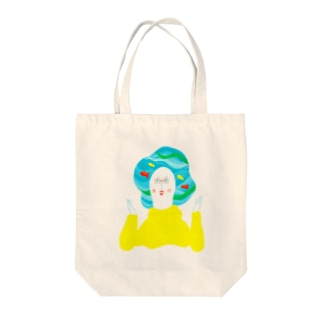 Nice hairstyle! Tote bags