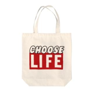 CHOOSE LIFE Tote bags