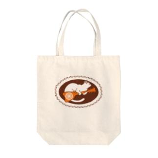 Tahitian Ukulele Cat Tote bags