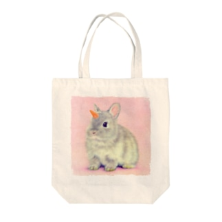 萌獣 猫 ユニピョーン (兎に角:つのうさぎ) Tote bags