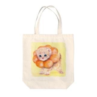 萌獣 猫 ポンデニャイオン Tote bags
