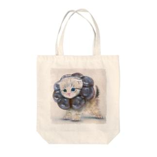萌獣 猫 ポンデニャイオン:ショコラ Tote bags