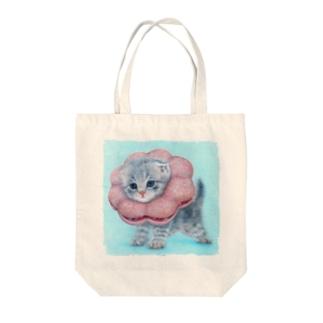 萌獣 猫 ポンデニャイオン:さくらもち Tote bags